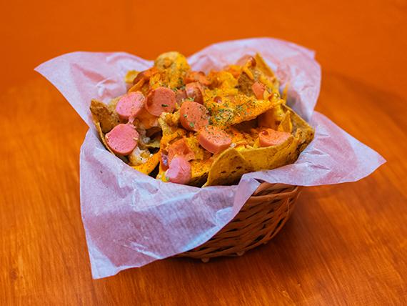 Porción de nachos con cheddar (para dos personas)