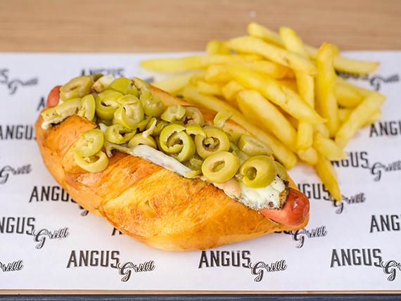 Capital pancho Montevideo con papas fritas