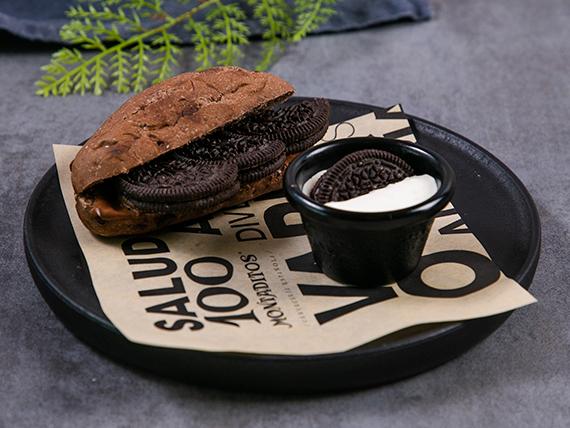 98- Montadito dulce - Nutella con Oreo