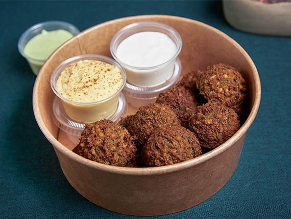 Falafel - 12 unidades + 4 salsas