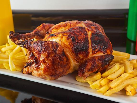 Promoción - Pollo entero con papas fritas + Bebida 1.5 L