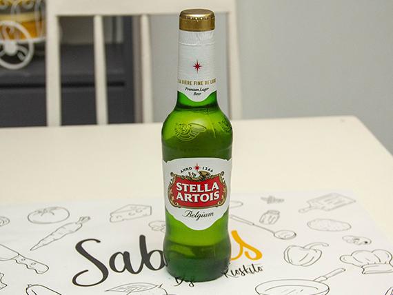 Porrón de cerveza Stella Artois