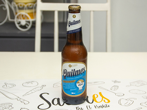 Porrón de cerveza Quilmes