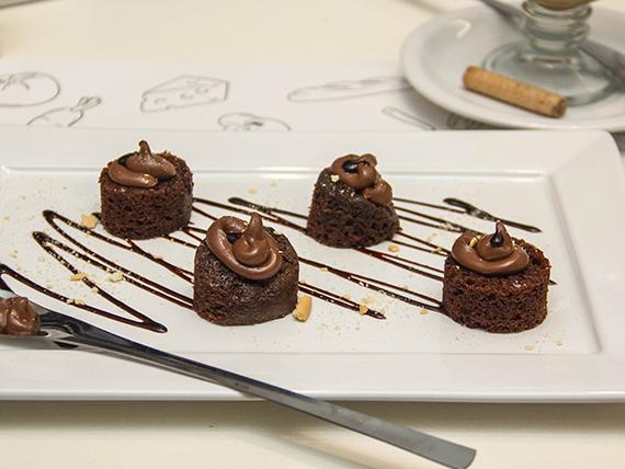 Brownie con topping a elección