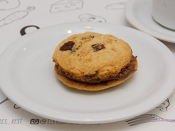 Cookie sándwich de nutella