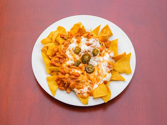 Nachos chili beans