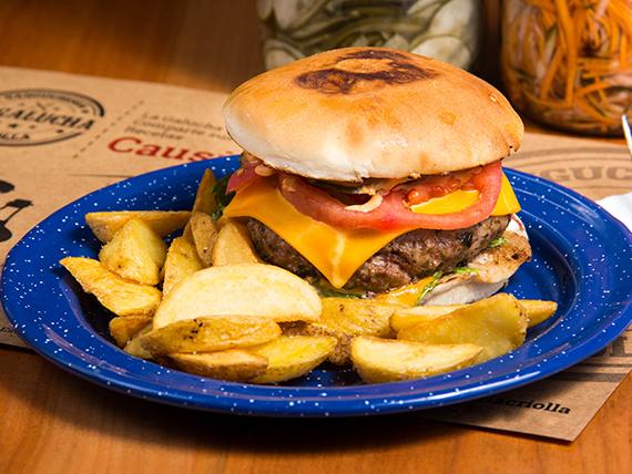 Sándwich de hamburguesa la galucha