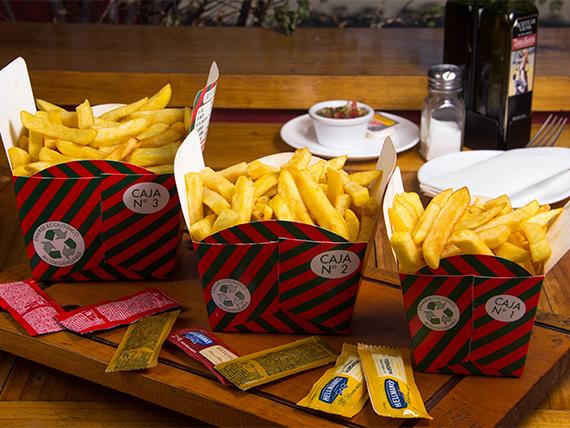 Papas fritas en caja (3 porciones)