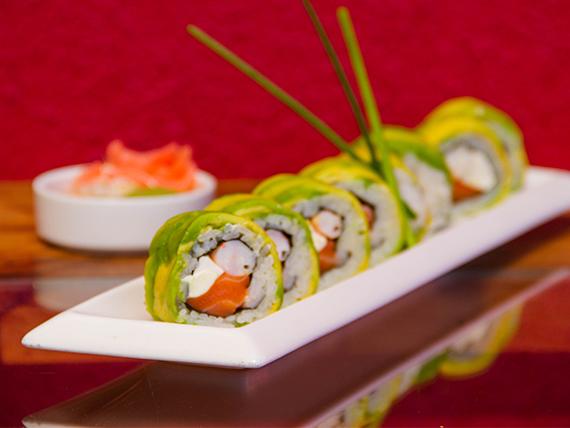 Sake ebi roll (8 piezas)