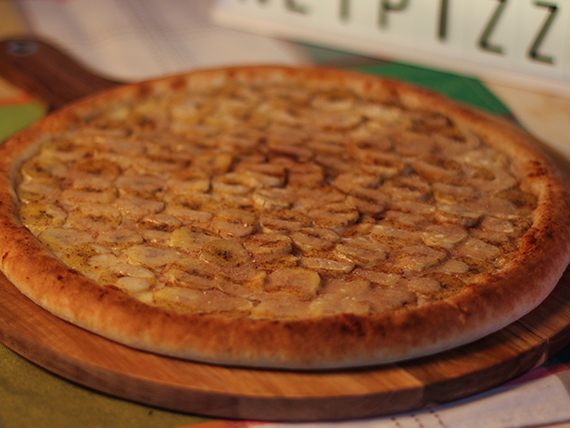 Pizza con banana familiar