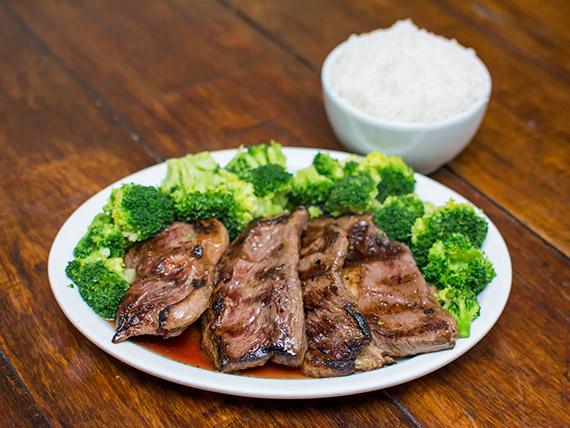 Picanha com brócolis