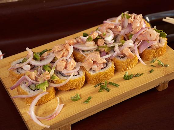 Tempura ceviche roll