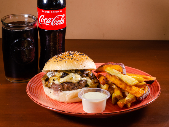 Combo - Hamburguesa blue cheese + Gaseosa 500 ml