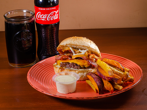 Combo - Hamburguesa bacon lovers + Gaseosa 500 ml