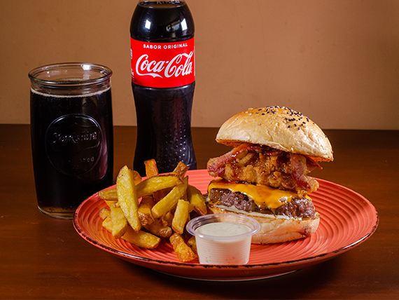 Combo - Hamburguesa texana + Gaseosa 500 ml