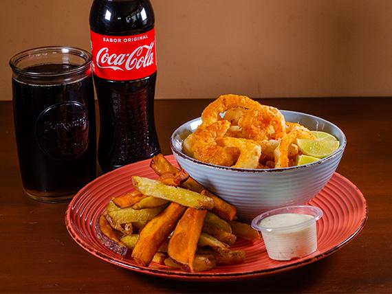 Combo - Camarones fritos (6 unidades) + Gaseosa 500 ml