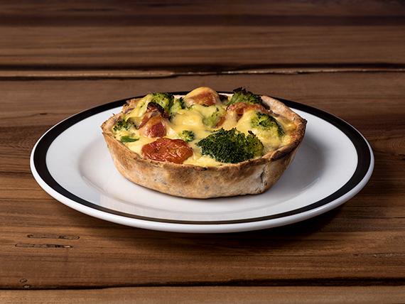 Tarta de puerro y brócoli