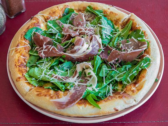 Pizza prosciutto e rucola grande
