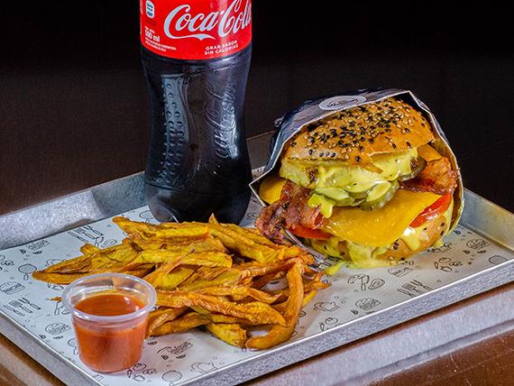 Combo hamburguesa hawaiana