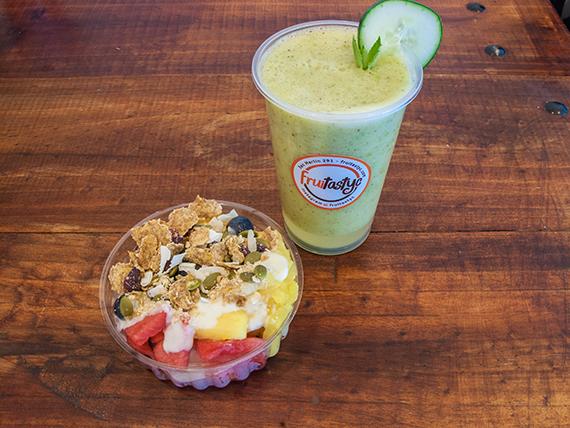 Combo cuerpo sano - Ensalada breakfruit standard + jugo detox