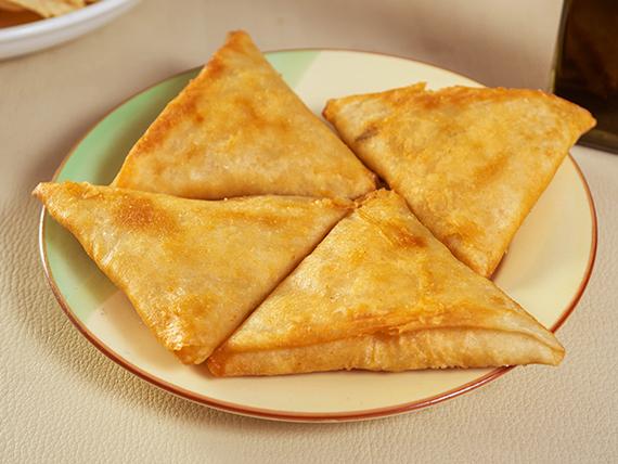 Camarón mandarín con queso (4 unidades)