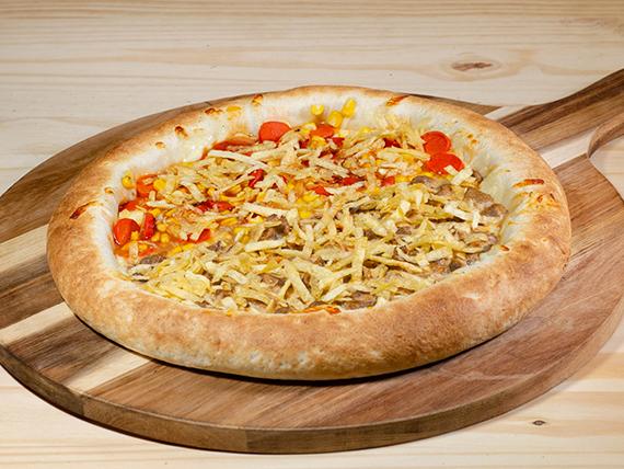 Pizza mitad y mitad mediana