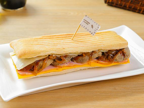 Sándwich de carne sin gluten