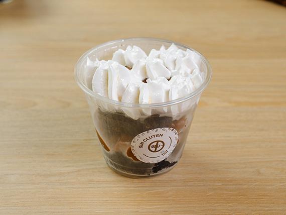 Brownies con dulce de leche y merengue con glúten