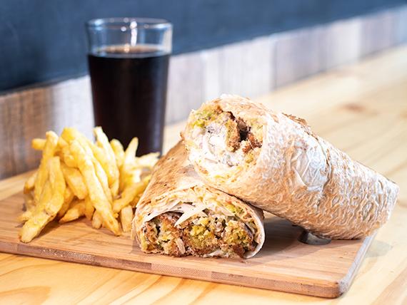 Combo - Sándwich de falafel grande + Papas fritas + Bebida 250 ml
