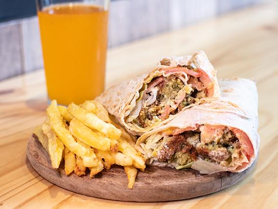 Combo - Sándwich de falafel + Papas fritas + Bebida 250 ml
