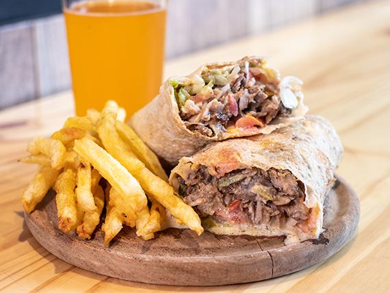 Combo - Sándwich de shawarma + Papas fritas + Bebida 250 ml