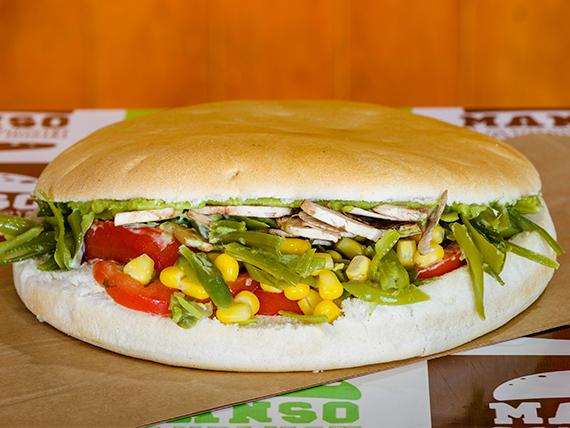 Manso sándwich huerto vegetariano