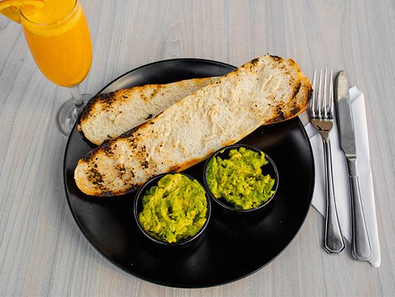 Combo - Tostada palta + vitamina naranja