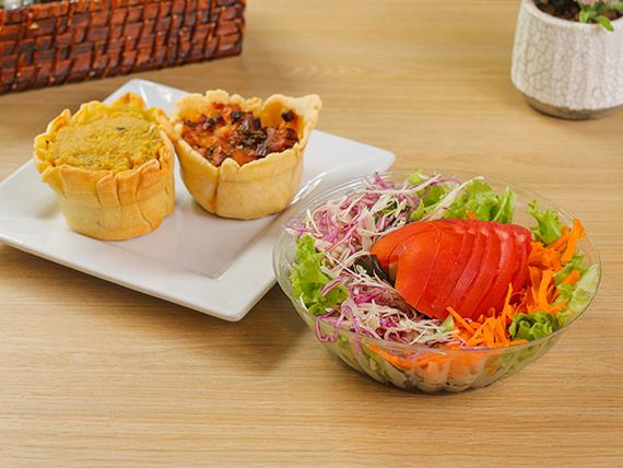 Promo - Tarta a elección + ensalada de lechuga, tomate, zanahoria y repollo