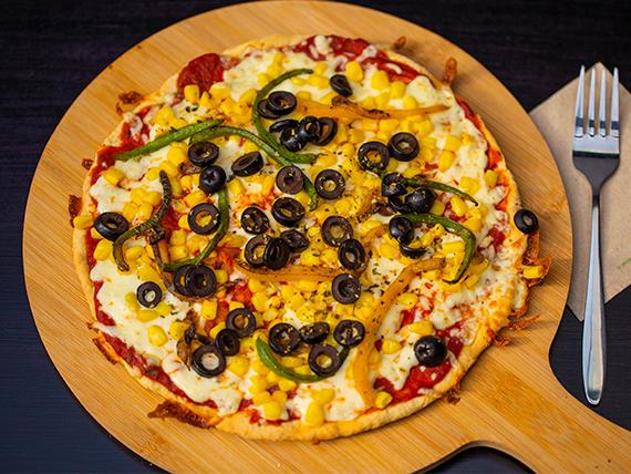Pizza con vegetales (tamaño mediano)