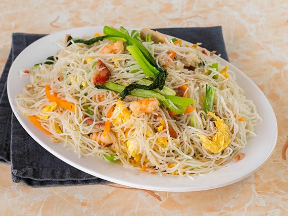Fideos de arroz a la Marco Polo