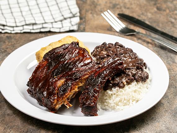 Back ribs BBQ
