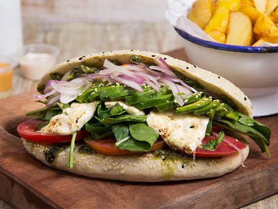 Sándwich sangú vegetariano