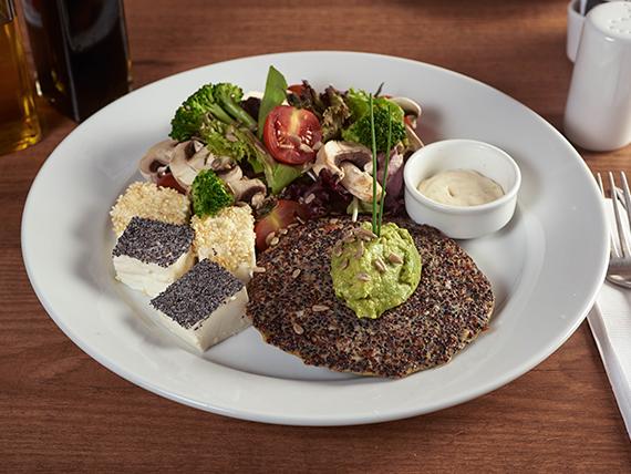 Ensalada de hamburguesa quinoa