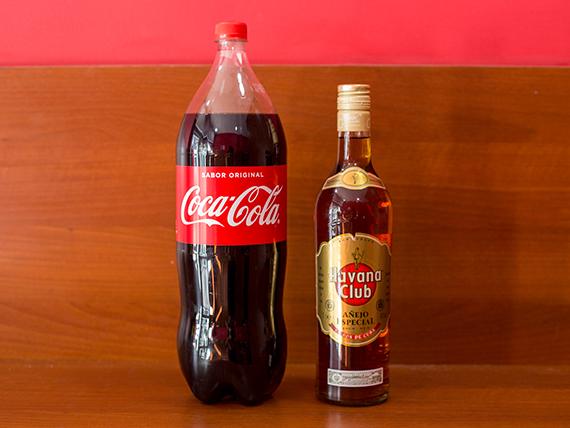 Combo - Ron Habana 750 ml + refresco Coca Cola