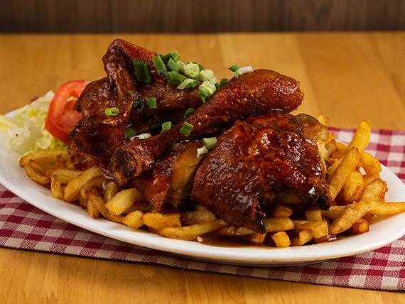 Pollo asado o frito