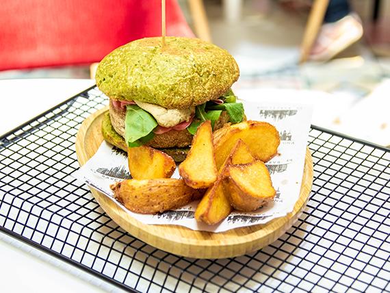 Hamburguesa cuida vegana