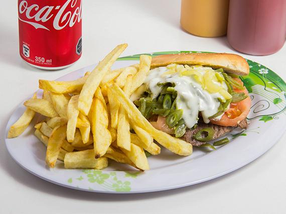 Combo 3 - Churrasco + papas fritas + bebida 350 ml