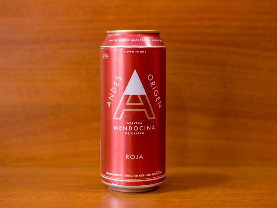 Cerveza Andes roja en lata 473 ml
