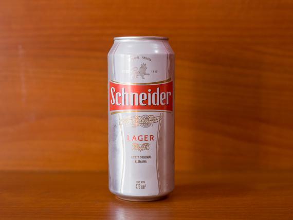 Cerveza Schneider en lata
