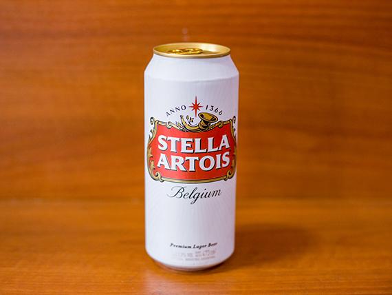 Cerveza Stella Artois en lata