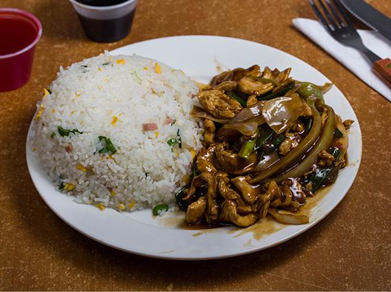 Colación de pollo mongoliano