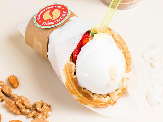 Waffle vegan Ice cream