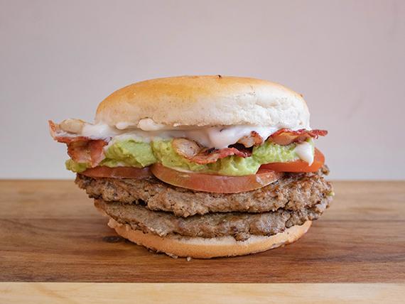 Hamburguesa Doble Italian Bacon