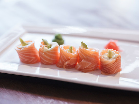 Geishas salmón